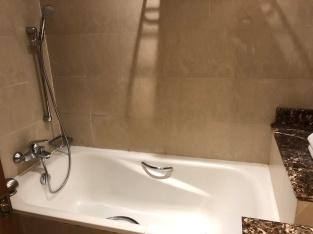 Bathtub cum shower area in second bathroom
