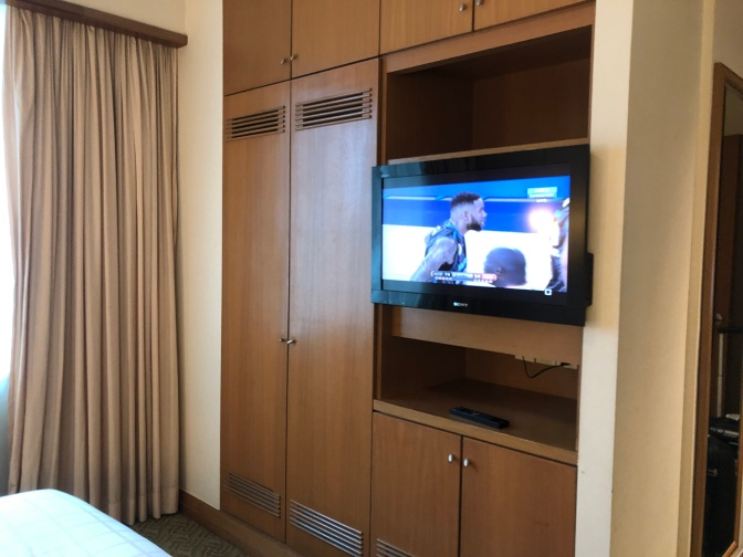 TV and wardrobe in the master bedroom
