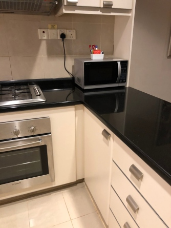 Conventional oven and microwave oven in the kitchen