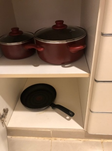 Cookware in the kitchen