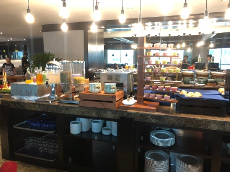Main food station inside the restaurant