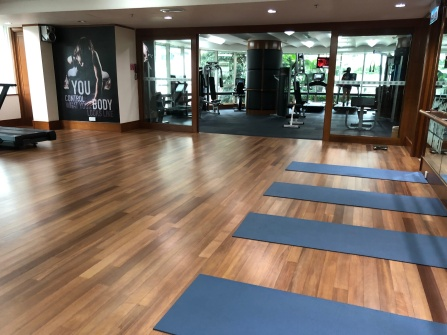 Yoga studio in the gym