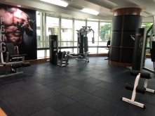 Gym in the hotel is simply equipped