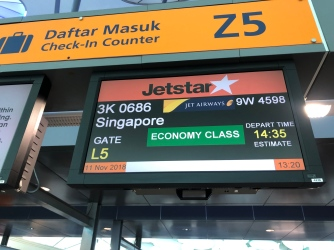 Jetstar's check-in counter is at Row Z