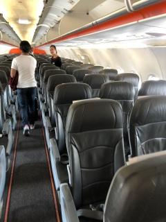 Cabin onboard Jetstar A320-200