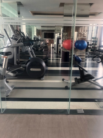 Hilton Sukhumvit has a small but functional gym on the roof top