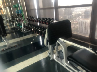 Weights equipment in the gym