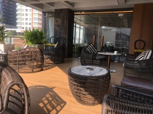Outdoor seating area in the Executive Lounge