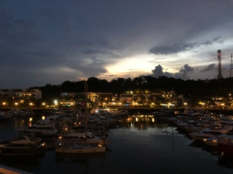 View of the marina from the balcony