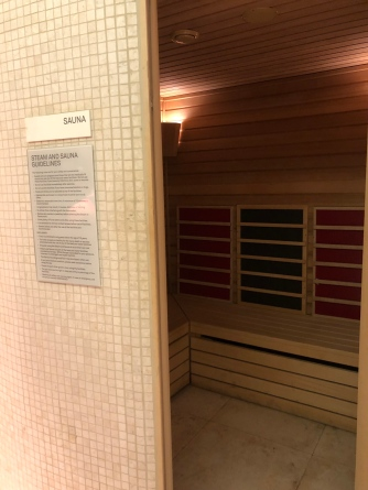 Sauna in the AWAY Spa