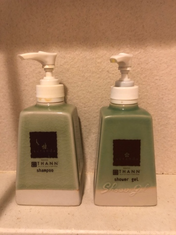 The resort uses Thann bath amenities