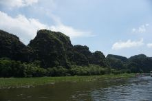 Scenery along Ngo Dong River after the first cave