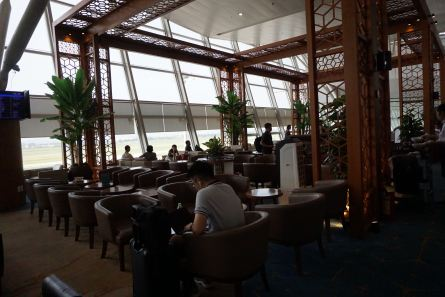 Lotus Lounge is a huge lounge in Hanoi Airport