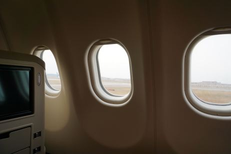 Each Business Class seats is treated to three window panels