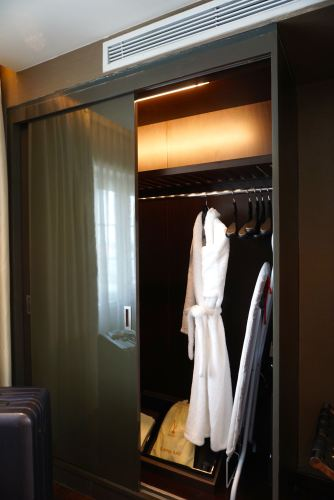 The wardrobe in the Opera Suite