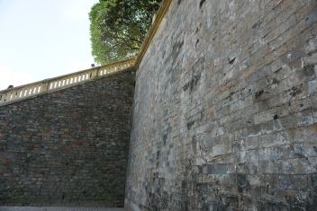 The stairways to the top of the wall