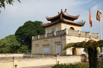 The pavilion on top of the Palace walls