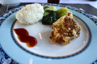 The food we had onboard the cruise boat
