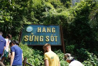 We begin our climb to Sung Sot Cave