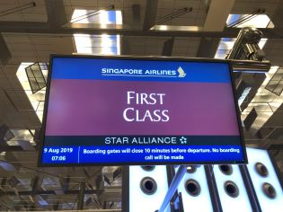 We were invited to check-in at the First Class counters in Row 6