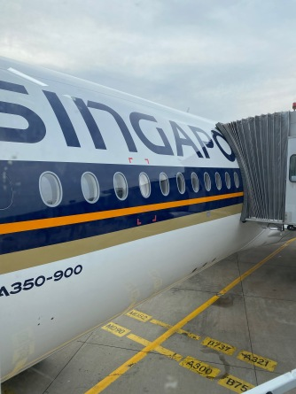 Singapore Airlines A350-900 upclose