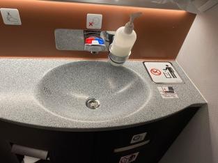 Sink in lavatory
