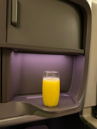 I opted for orange juice for pre-departure drink