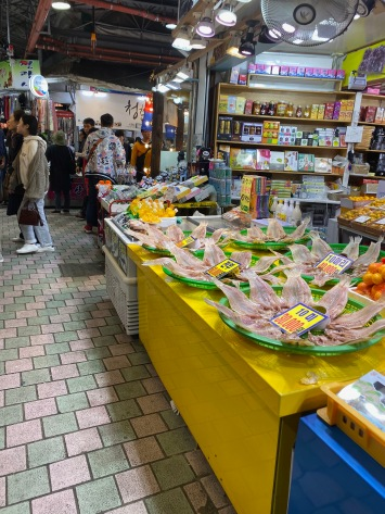 This part of Dongmun Market sells produces