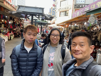 Wefie at Namdaemun Market