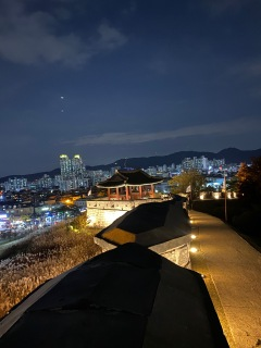 The first pavilion along Hwaseong Fortress