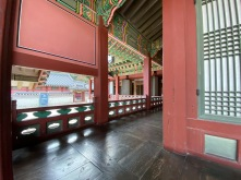 One of the corridors in Hwaseong Haenggung