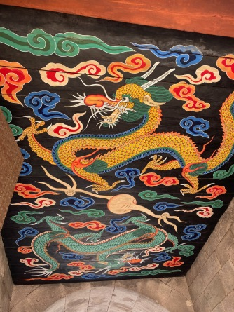 Dragon mural under the arch of Namdaemun Gate