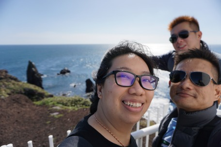 Taking a wefie at the lighthouse