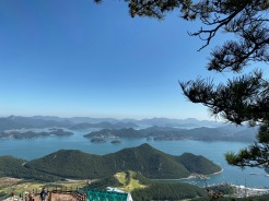 We got a great view of Hallyeosudo from Great Battle of Hansan Viewpoint