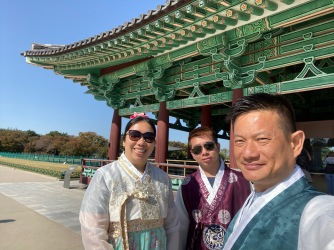 Weife at the second Pavilion in Donggung Palace