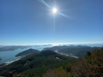 View of Hallyeosudo from Great Battle of Hansan Viewpoint