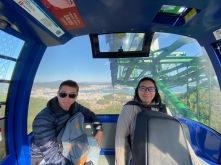 My friends in the cable car