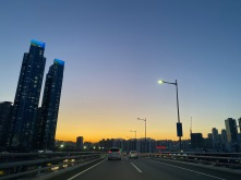 Driving on the roads of Busan in dusk