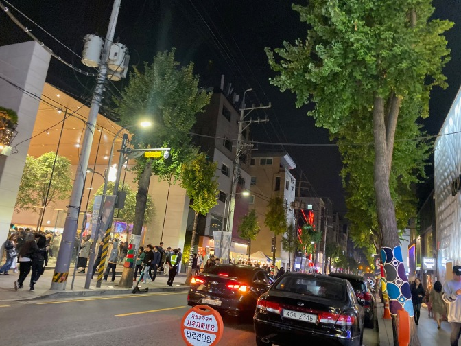 Gangnam Garosugil is a favourite hang out place for Seoulites