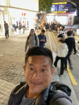 Taking a wefie as we were walking on Gangnam Garosugil