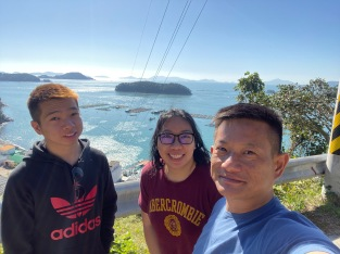 Wefie at the unmarked lookout along the way