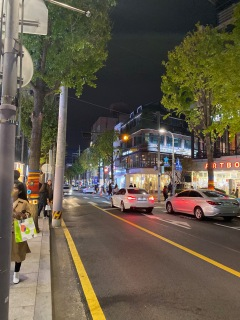 Street scene at Gangnam Garosugil
