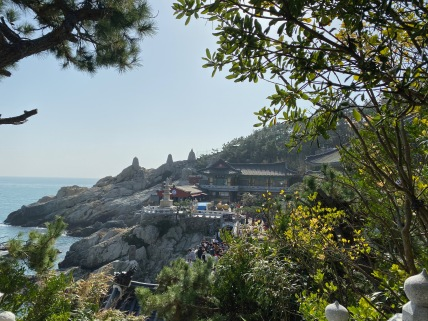 Haedong Yonggungsa Temple viewed from the pathway