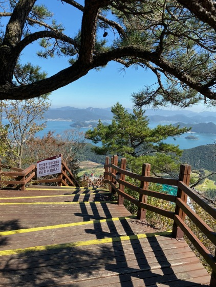 Stairs to Great Battle of Hansan Viewpoint