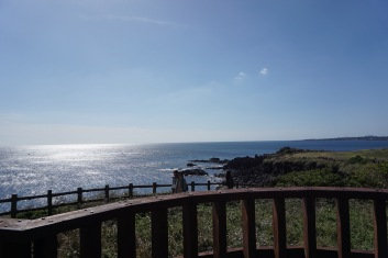 The view of the coastline at Seopjikoji is simply amazing