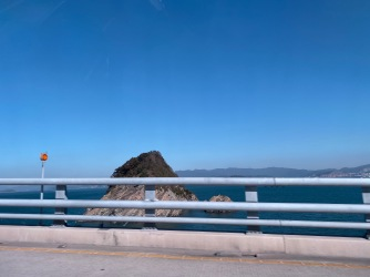 We drove across the Geogadaegyo Bridge that links several islands together in this region