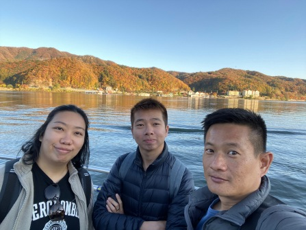 On the ferry to Nami Island