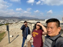 Taking a wefie at the Seoul City Wall