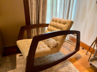 Rocking chair for guests to relax onto
