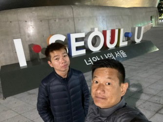 Our last wefie in Seoul
